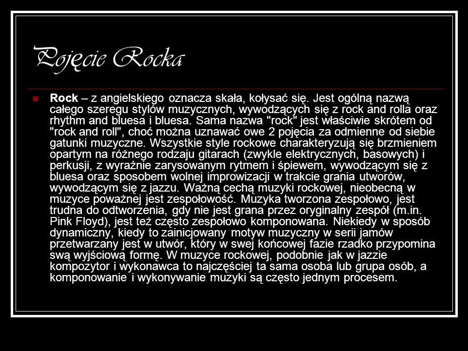 Red Hot Chilli Pepers – rock alternatywny Zespół założony został w Los Angeles, w 1983, gra głównie funk rock.