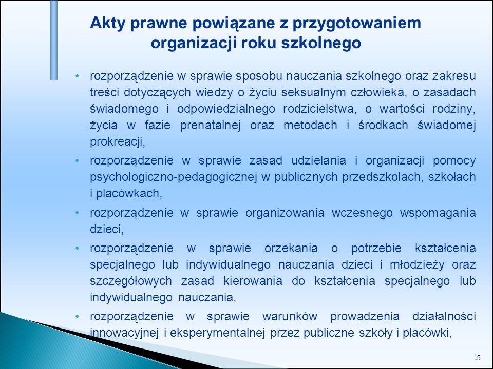 36 Organizacja zajęć - wychowanie fizyczne Zajęcia wychowania fizycznego są prowadzone w grupach liczących od 12 do 26 uczniów.