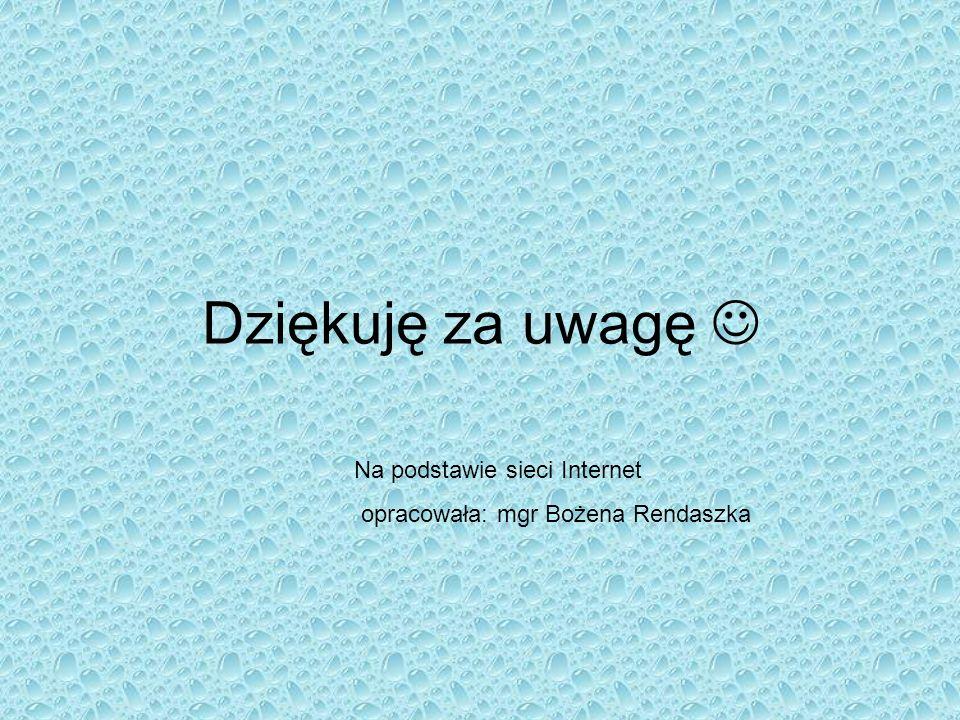 Dziękuję za uwagę Na podstawie sieci Internet opracowała: mgr Bożena Rendaszka