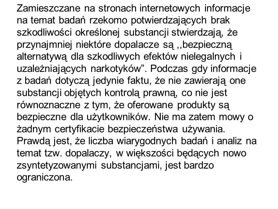 www.stopdopalaczom.com www.dopalaczeinfo.pl www.forum.dopalamy.com