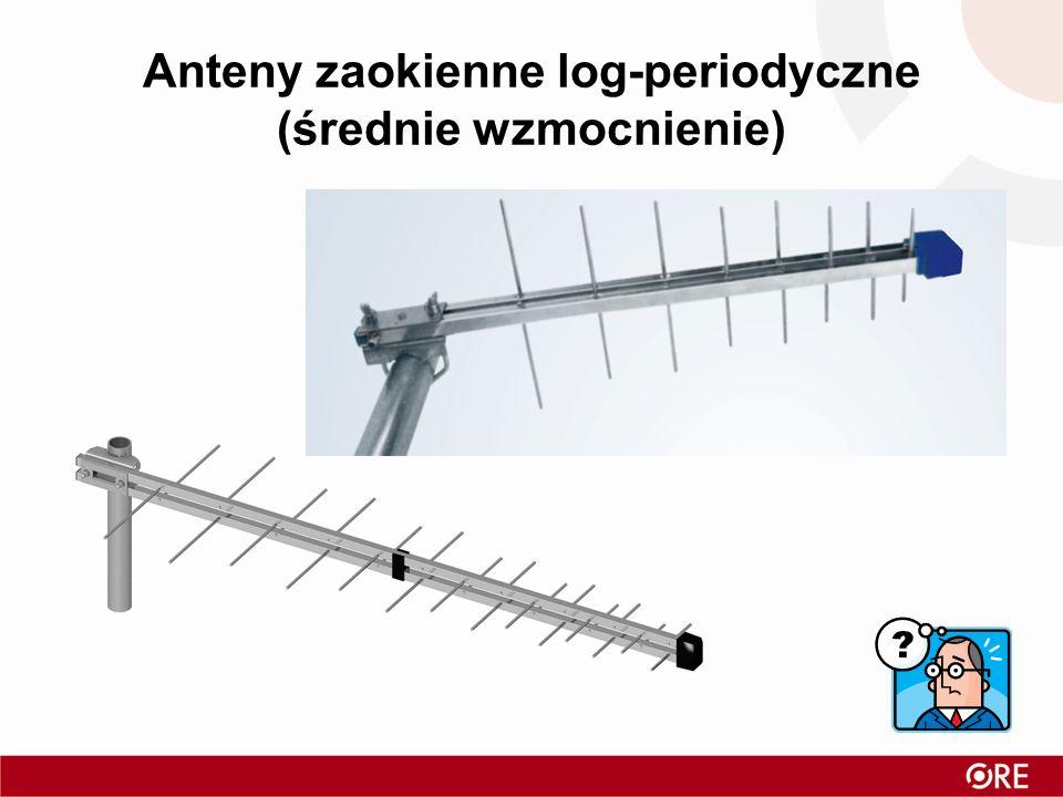 Anteny zaokienne log-periodyczne (średnie wzmocnienie)