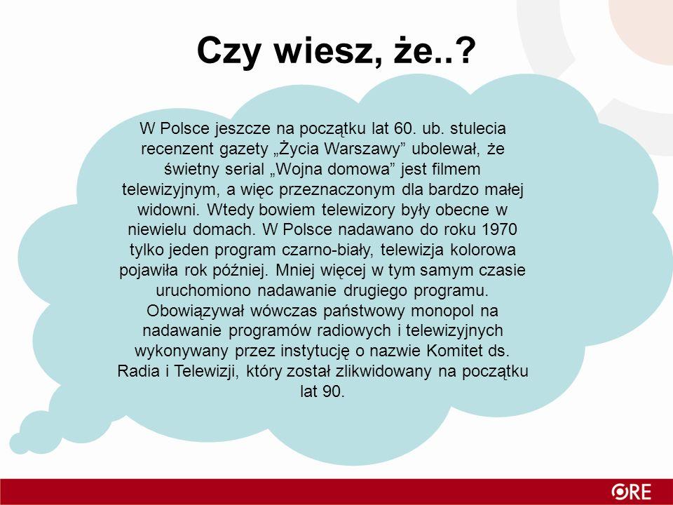 Czy wiesz, że..? Na ziemiach polskich pierwsza transmisja miała miejsce w 1931 roku, eksperyment przeprowadziła rozgłośnia Polskiego Radia w Katowicac