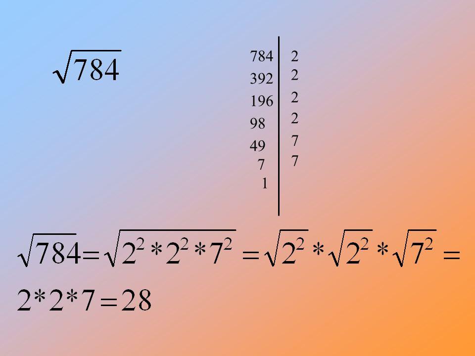 Nie z każdej liczby można wyciągnąć pierwiastek, ale z części tej liczby czasem można np Rozłożymy ja na czynniki czyli przedstawimy w postaci iloczynu dwóch liczb.