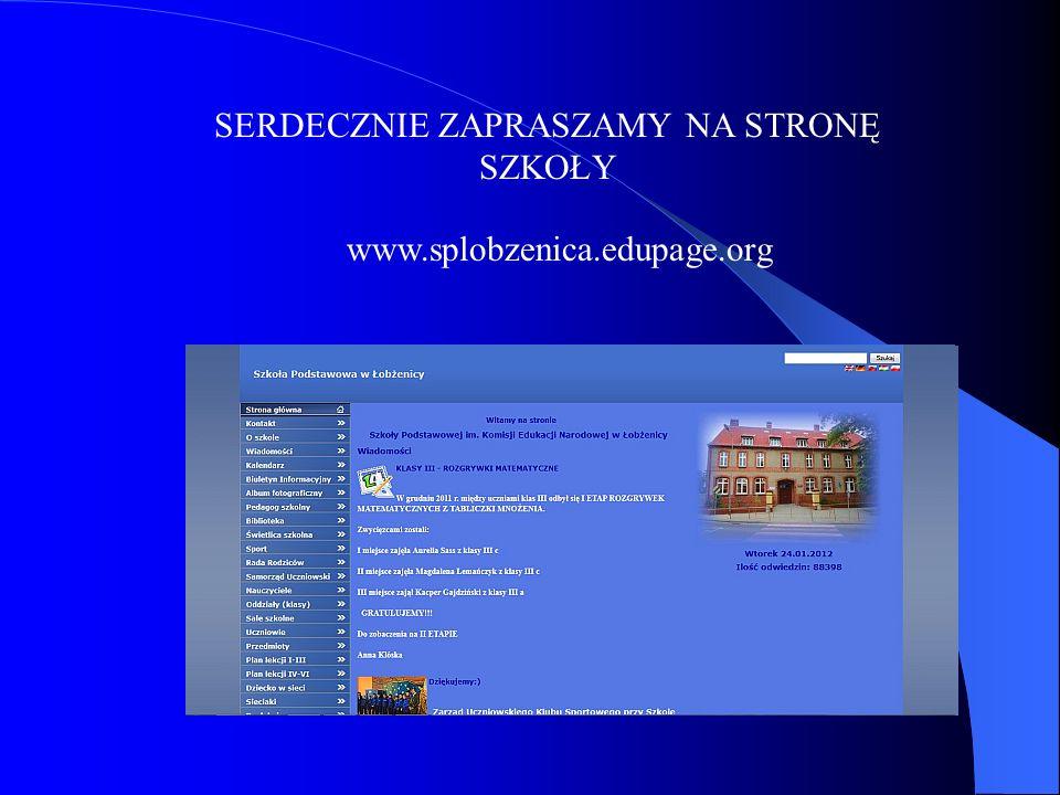 SERDECZNIE ZAPRASZAMY NA STRONĘ SZKOŁY www.splobzenica.edupage.org