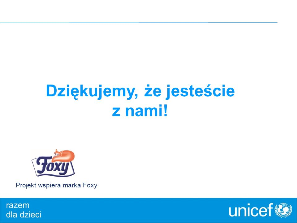 Dziękujemy, że jesteście z nami! Projekt wspiera marka Foxy