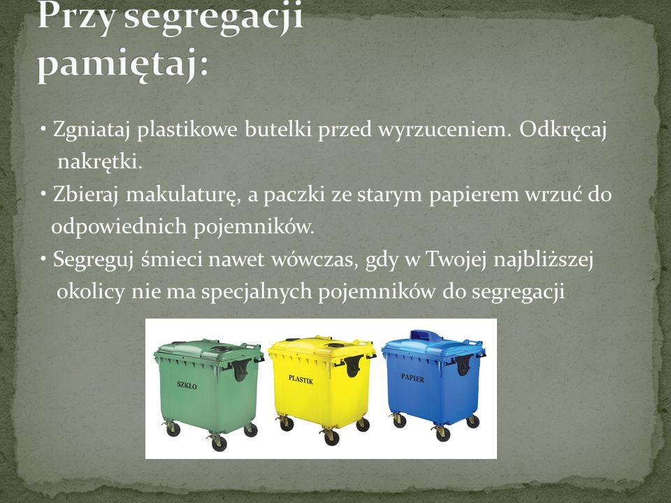 - Ochrona środowiska - Ochrona surowców i energii - Utrzymanie porządku Dużą zaletą segregacji jest możliwość poddania odpadów recyklingowi.