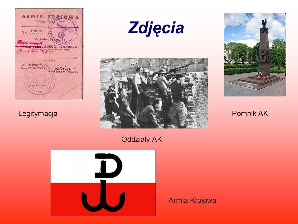 Zdjęcia LegitymacjaPomnik AK Oddziały AK Armia Krajowa