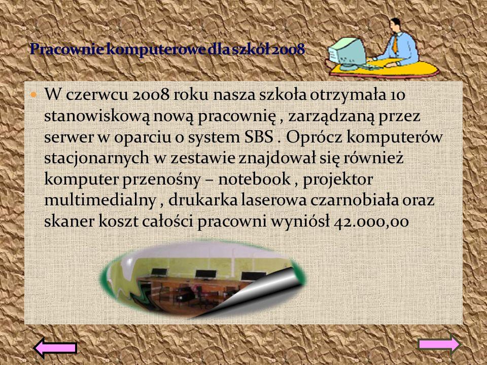Projekty edukacyjne realizowane w naszej szkole Pracownie komputerowe dla szkół 2008komputerowe dla Zaczarowany świat Wesołe sztubaki ROK SZKOLNY 2009/2010 Program Program Radosna SzkołaRadosna