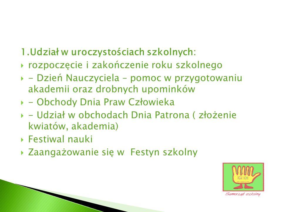 2.Przygotowanie i prowadzenie zebrań zarządu oraz Rady Uczniowskiej.