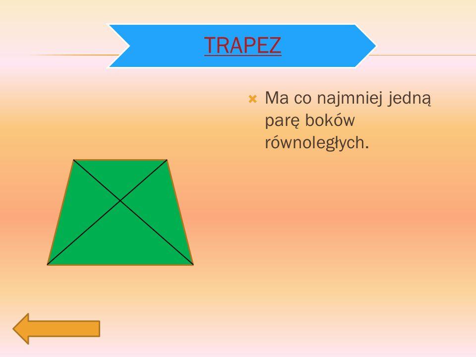 a b h Pole trapezu jest równe połowie iloczynu jego wysokości i sumy długości podstaw.