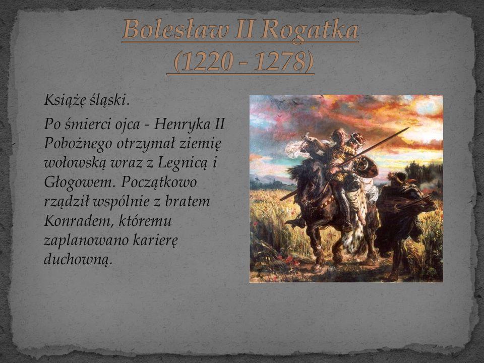 Książę śląski. Po śmierci ojca - Henryka II Pobożnego otrzymał ziemię wołowską wraz z Legnicą i Głogowem. Początkowo rządził wspólnie z bratem Konrade