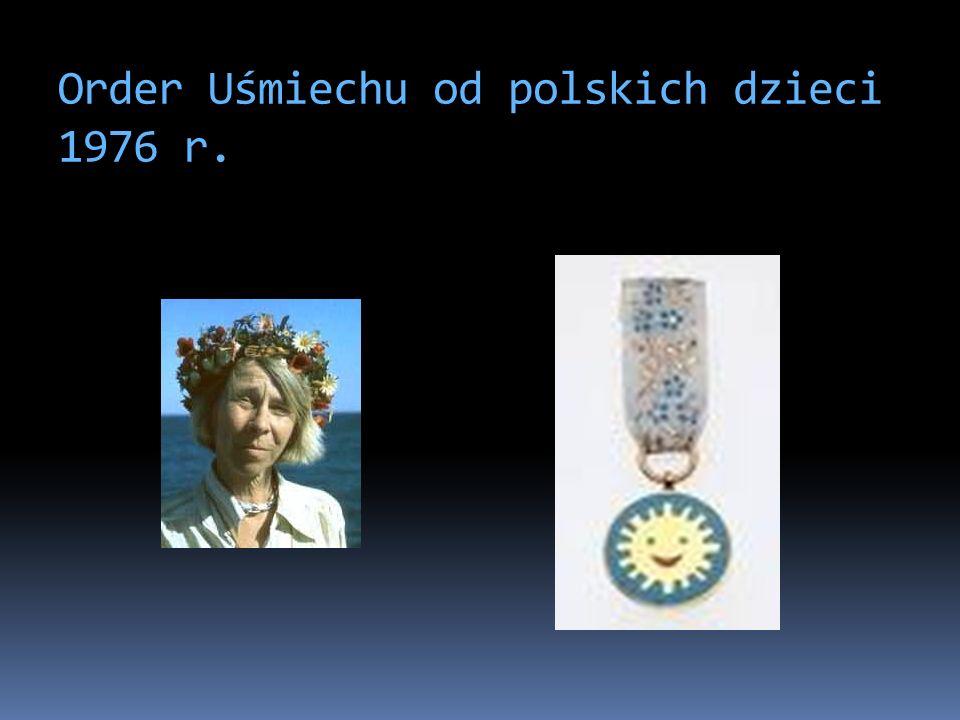 Order Uśmiechu od polskich dzieci 1976 r.