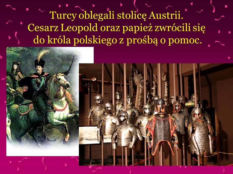Turcy oblegali stolicę Austrii. Cesarz Leopold oraz papież zwrócili się do króla polskiego z prośbą o pomoc.