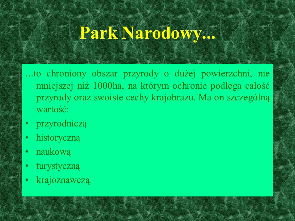Park Narodowy......