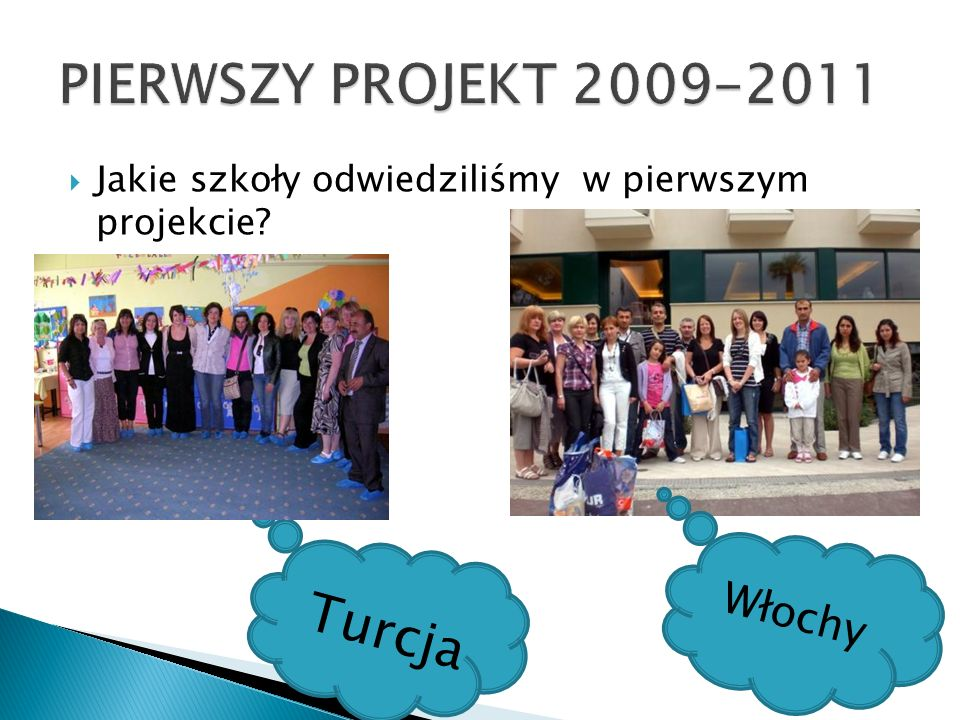 Jakie szkoły odwiedziliśmy w pierwszym projekcie? Włochy Turcja