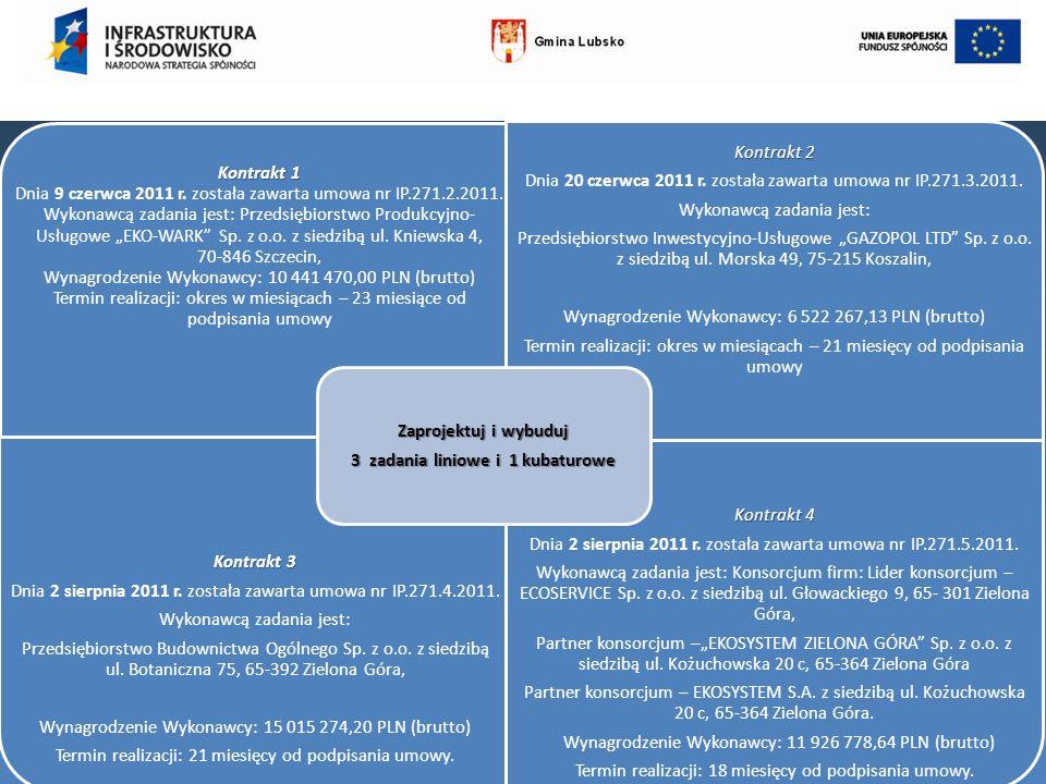 Kontrakt 1 Kontrakt 1 Dnia 9 czerwca 2011 r. została zawarta umowa nr IP.271.2.2011. Wykonawcą zadania jest: Przedsiębiorstwo Produkcyjno- Usługowe EK