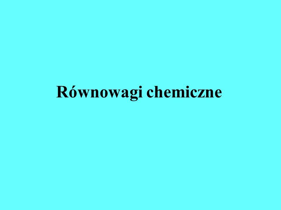 Położenie równowagi chemicznej zależy nie tylko od rodzaju reakcji chemicznej, lecz także od stężeń składników reagujących.