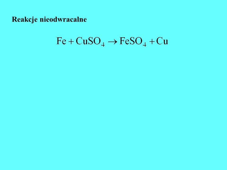 Stała równowagi - prawo działania mas Guldberga i Waagego nA +mB = qC + rD Substancje reagują tak długo, dopóki stosunek iloczynu stężeń produktów do iloczynu stężeń substratów nie osiągnie pewnej stałej wartości, charakterystycznej dla danej reakcji i dla temperatury
