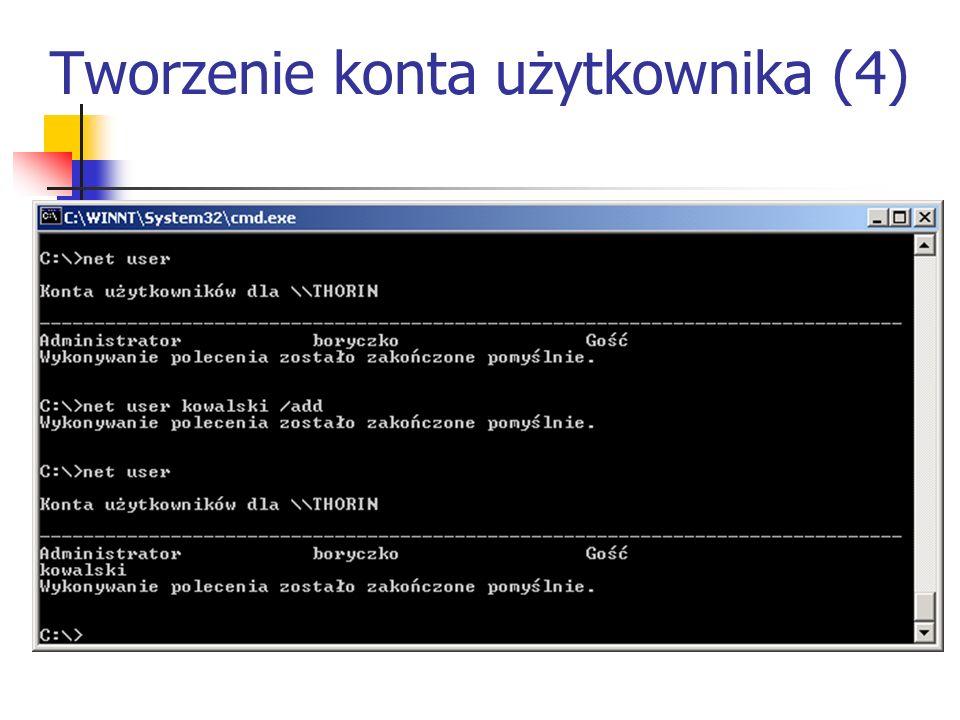 Tworzenie konta użytkownika (4)