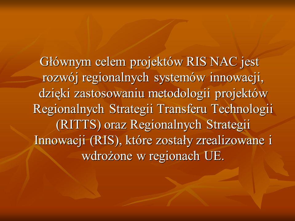 Głównym celem projektów RIS NAC jest rozwój regionalnych systemów innowacji, dzięki zastosowaniu metodologii projektów Regionalnych Strategii Transfer