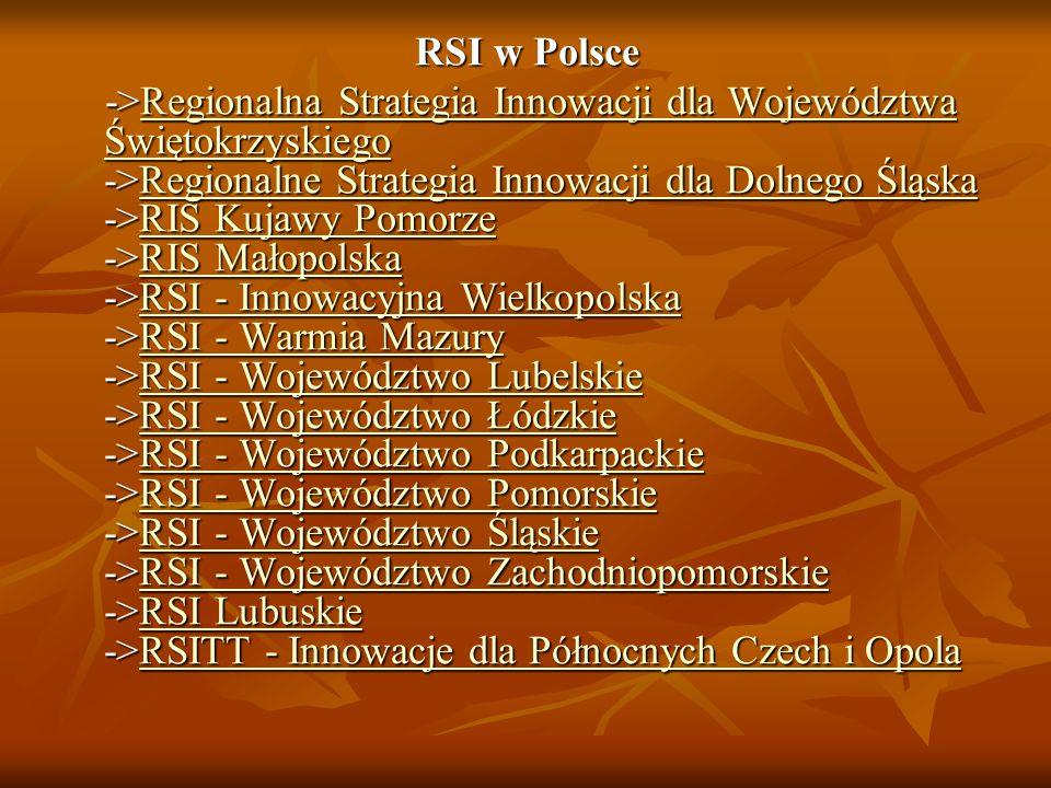 RSI w Polsce ->Regionalna Strategia Innowacji dla Województwa Świętokrzyskiego ->Regionalne Strategia Innowacji dla Dolnego Śląska ->RIS Kujawy Pomorz