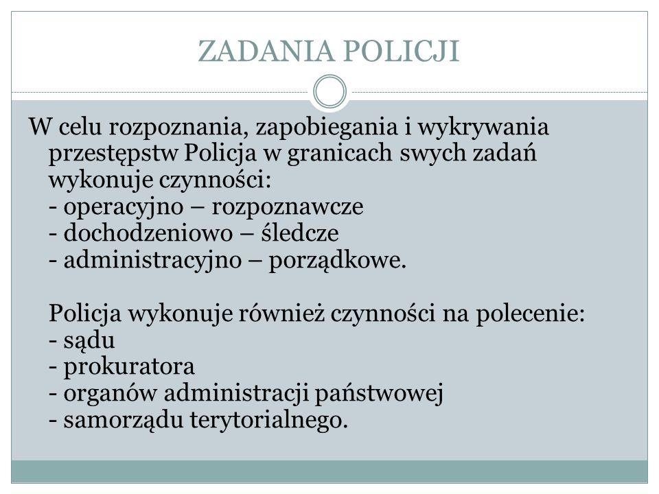 Policjant wykonując swoje czynności ma prawo do : 1.