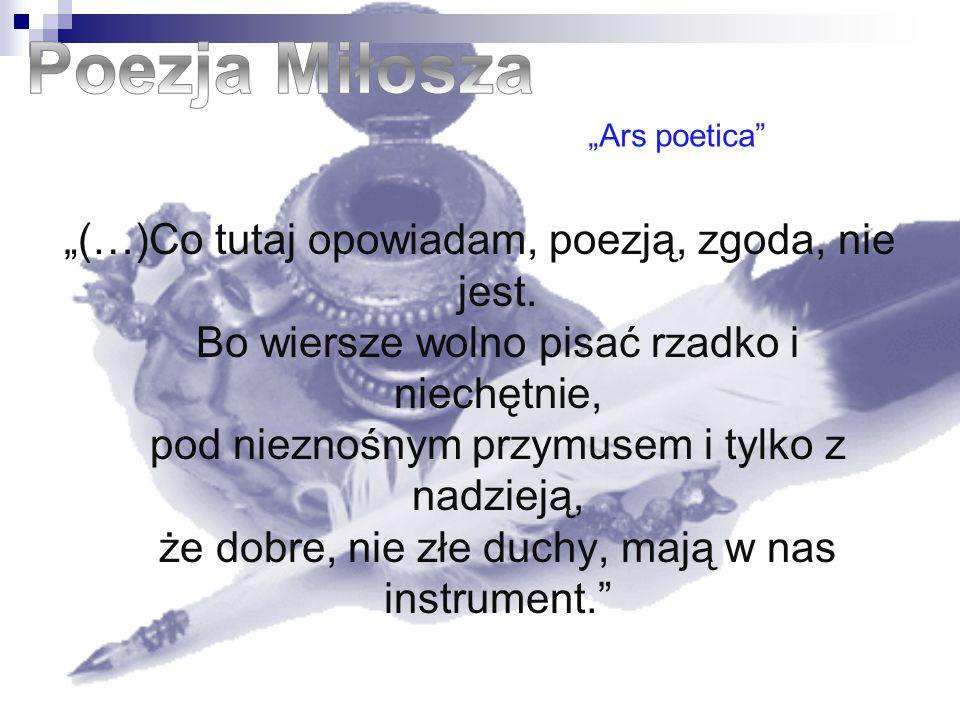 (…)Co tutaj opowiadam, poezją, zgoda, nie jest. Bo wiersze wolno pisać rzadko i niechętnie, pod nieznośnym przymusem i tylko z nadzieją, że dobre, nie