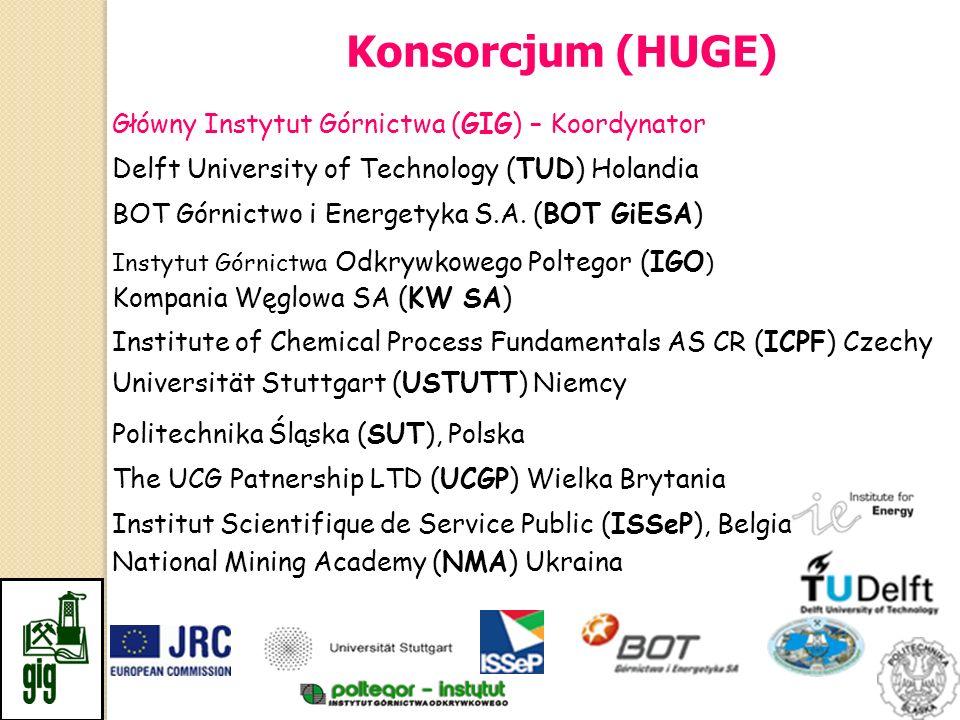 Główny Instytut Górnictwa (GIG) – Koordynator Delft University of Technology (TUD) Holandia Universität Stuttgart (USTUTT) Niemcy Institute of Chemica