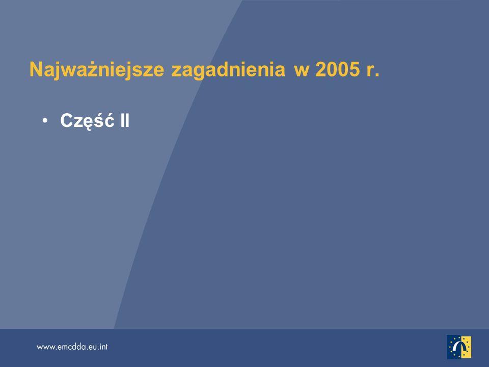 Najważniejsze zagadnienia w 2005 r. Część II