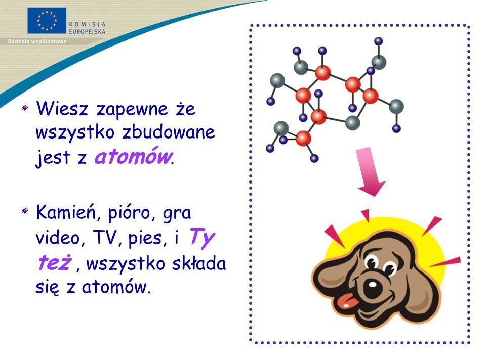 Atomy budują cząsteczki i tworzą materiały.