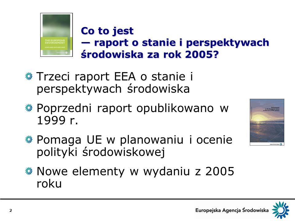 2 Co to jest raport o stanie i perspektywach środowiska za rok 2005.