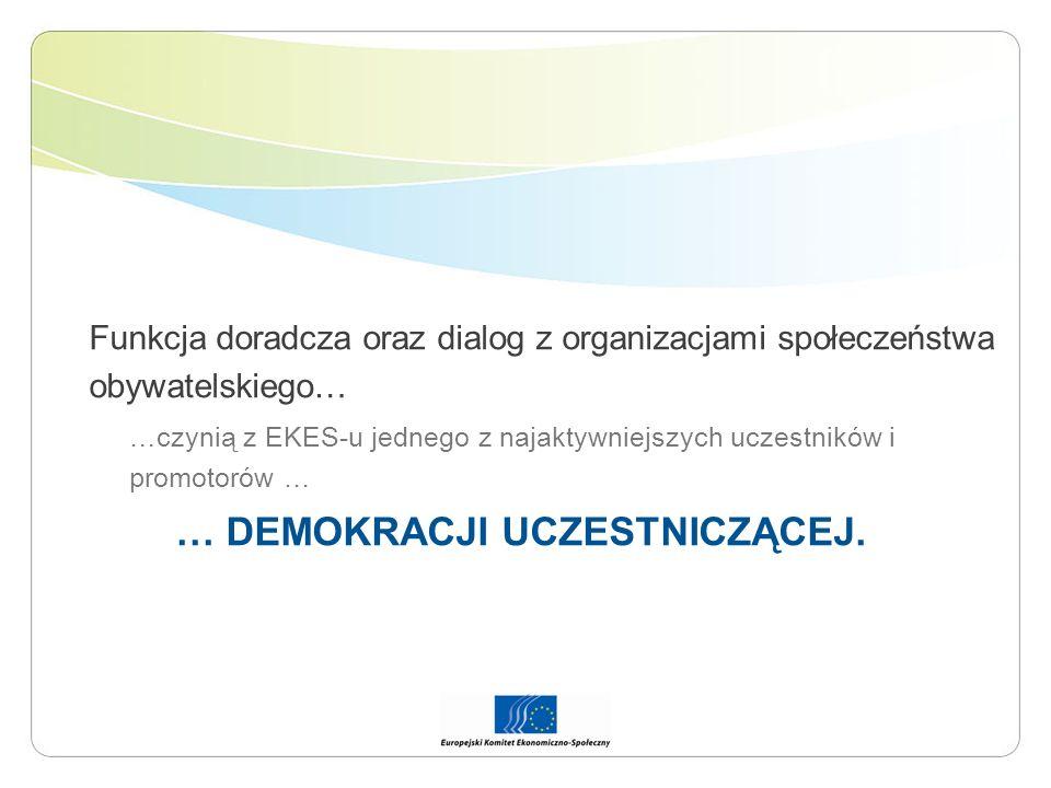 Funkcja doradcza oraz dialog z organizacjami społeczeństwa obywatelskiego… …czynią z EKES-u jednego z najaktywniejszych uczestników i promotorów … … D