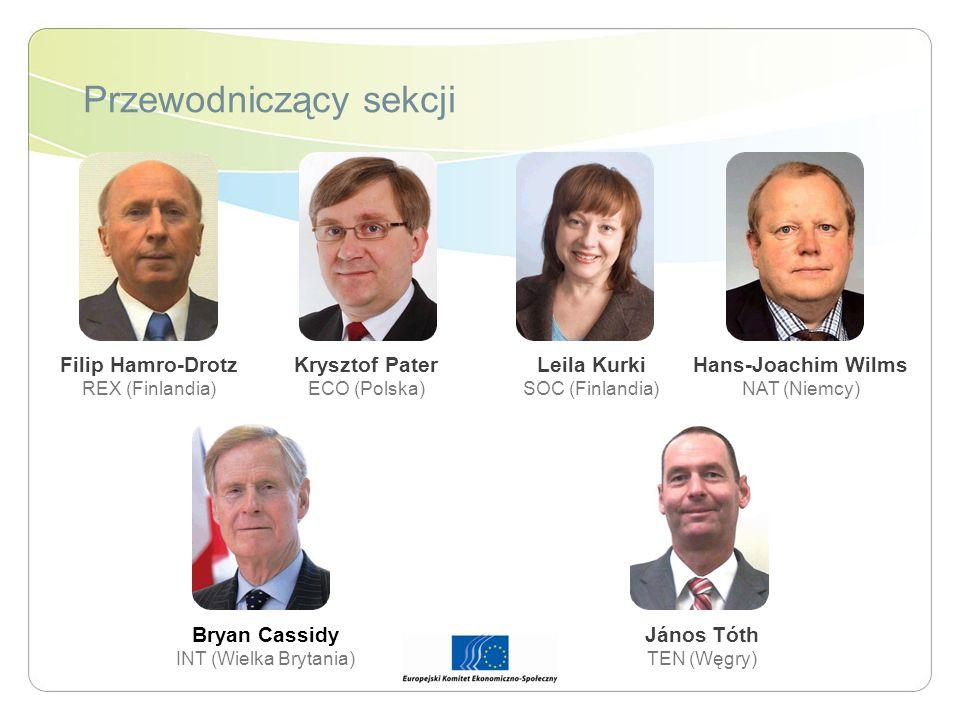 Przewodniczący sekcji Bryan Cassidy INT (Wielka Brytania) Leila Kurki SOC (Finlandia) Filip Hamro-Drotz REX (Finlandia) Krysztof Pater ECO (Polska) Já