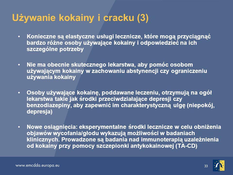 33 Używanie kokainy i cracku (3) Konieczne są elastyczne usługi lecznicze, które mogą przyciągnąć bardzo różne osoby używające kokainy i odpowiedzieć