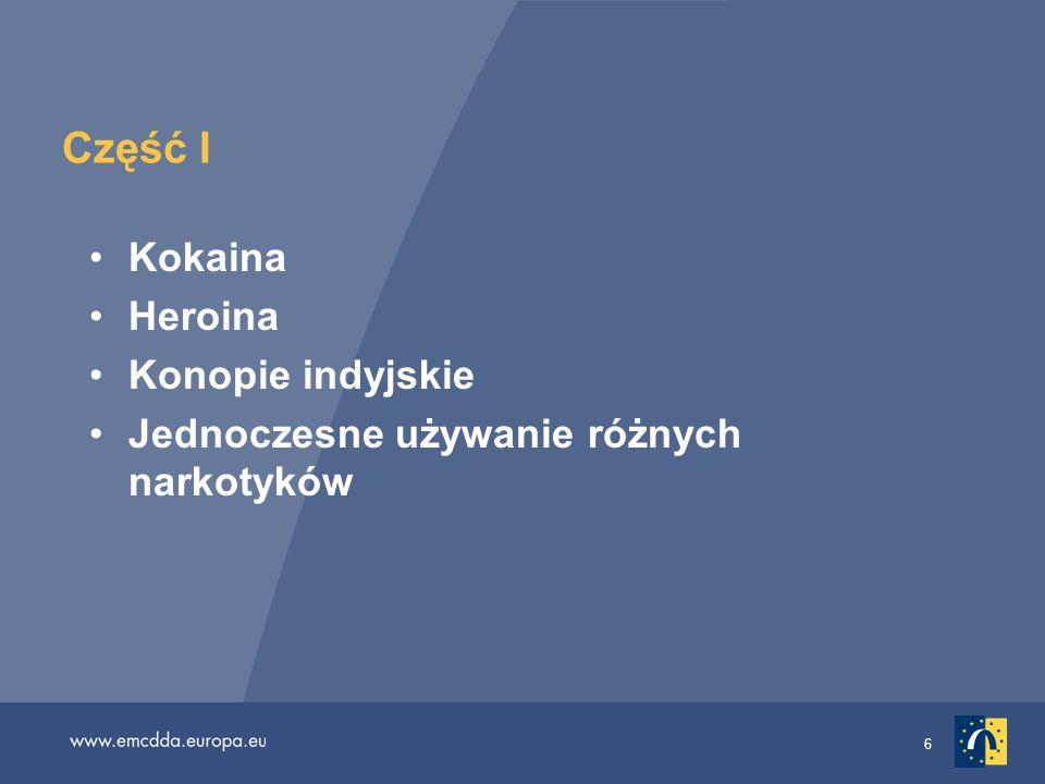 37 Przestępstwa związane z narkotykami: wymierzanie kary i inne następstwa Niewiele wiadomo na temat następstw przestępstw związanych z narkotykami Wybrane zagadnienie krok w kierunku wypełnienia tej luki informacyjnej Badanie, co dzieje się z osobami łamiącymi przepisy antynarkotykowe w 26 krajach Analiza statysty krajowych (policja, prokuratura, sądy) według : rodzaju przestępstwa (użytek prywatny, rozprowadzanie) rodzaju następstwa (kara grzywny, pozbawienie wolności, leczenie, prace społeczne) Wyroki pozbawienia wolności są rzadko wydawane w przypadku używania lub posiadania narkotyków; są powszechne w przypadku przestępstw związanych z ich rozprowadzaniem