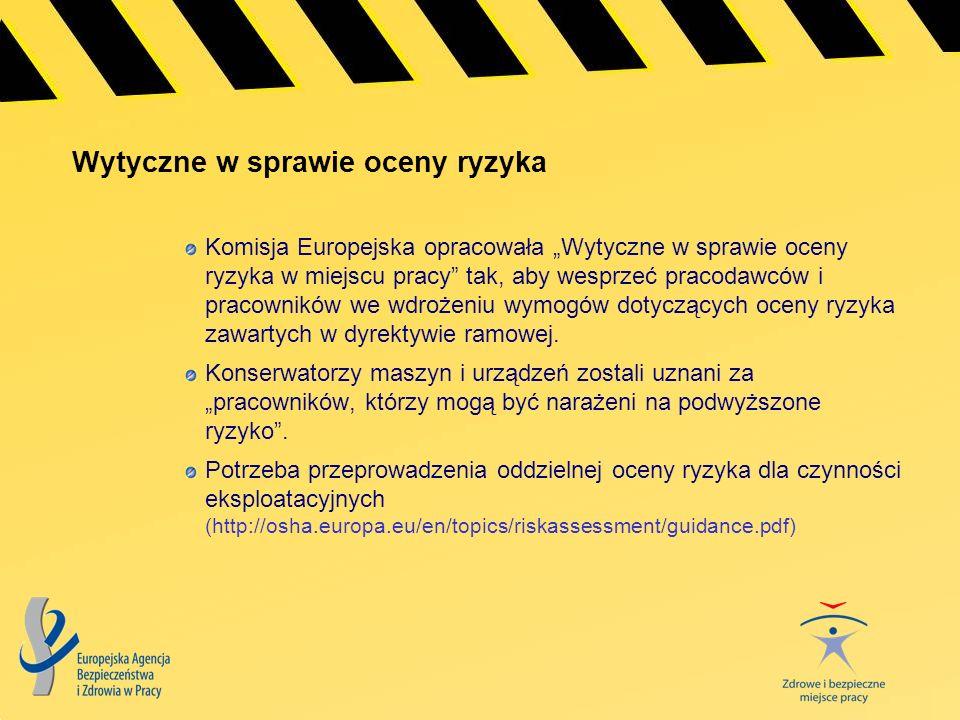 Wytyczne w sprawie oceny ryzyka Komisja Europejska opracowała Wytyczne w sprawie oceny ryzyka w miejscu pracy tak, aby wesprzeć pracodawców i pracowni