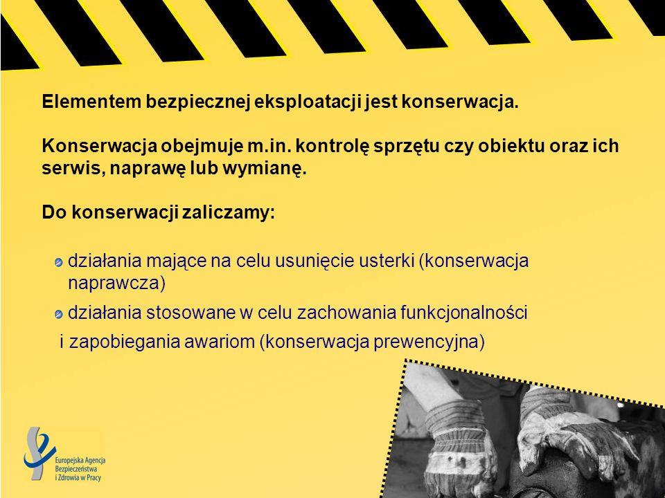 Celem europejskiej kampanii na rzecz zdrowych miejsc pracy na lata 2010-11 jest podniesienie wiedzy na temat: znaczenia procesów związanych z bezpieczną eksploatacją zagrożeń powstających w wyniku niewłaściwego przeprowadzania tego procesu