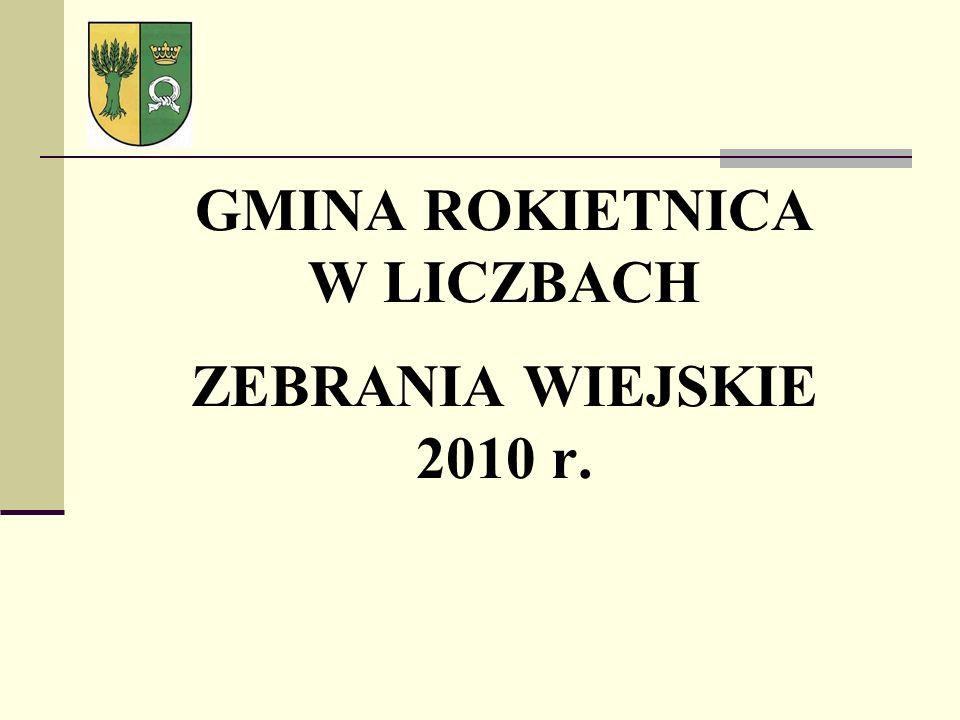 GMINA ROKIETNICA W LICZBACH ZEBRANIA WIEJSKIE 2010 r.