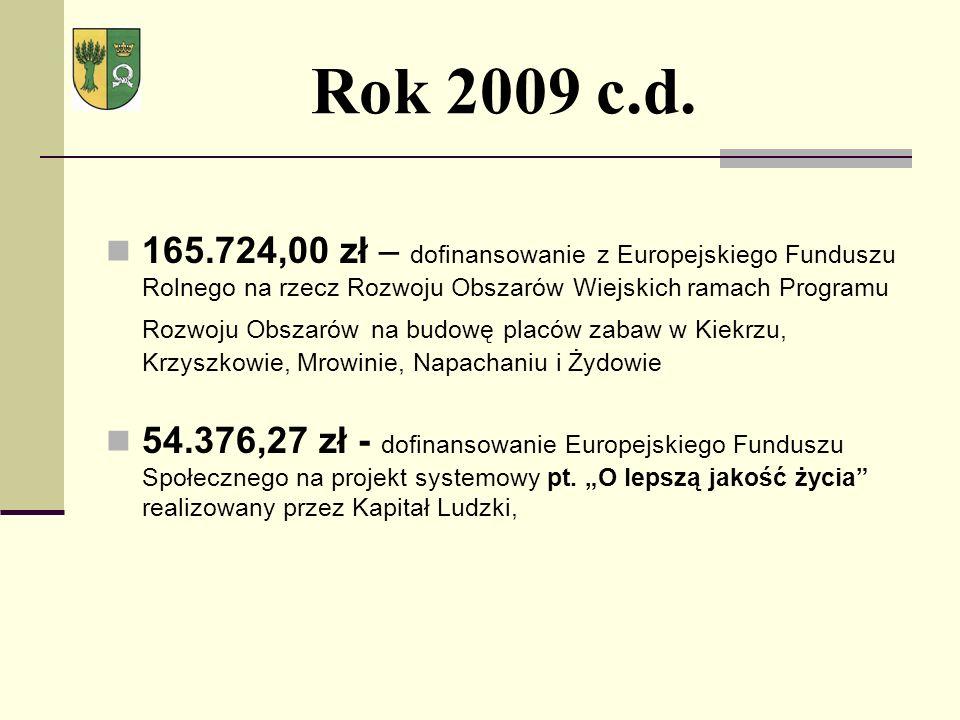 Rok 2009 c.d.