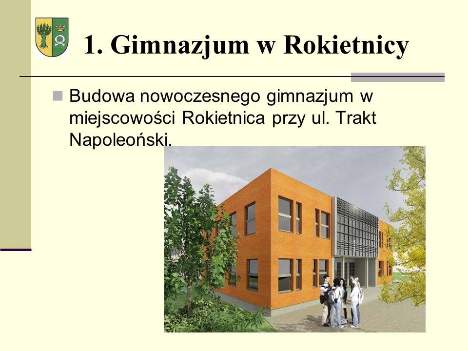 1. Gimnazjum w Rokietnicy Budowa nowoczesnego gimnazjum w miejscowości Rokietnica przy ul.