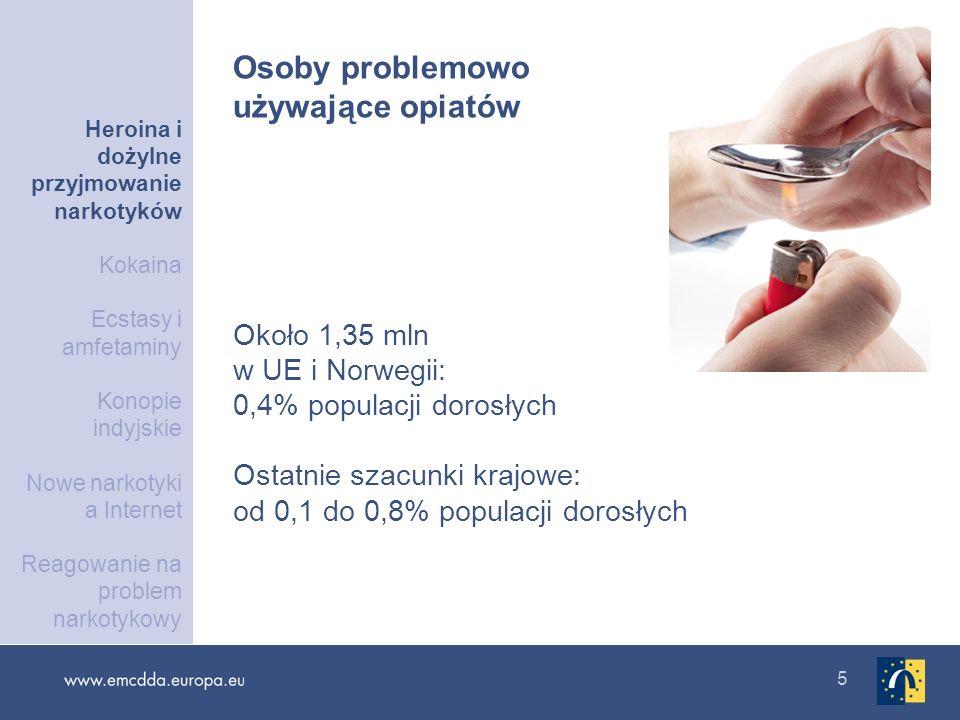 16 Według raportów UNODC problemowe używanie opiatów w Rosji i na Ukrainie przekracza średnią UE o 24 razy Wysoki odsetek osób przyjmujących narkotyki dożylnie i wysokie poziomy zakażeń HIV Problemowe używanie opiatów w krajach ościennych Heroina i dożylne przyjmowanie narkotyków Kokaina Ecstasy i amfetaminy Konopie indyjskie Nowe narkotyki a Internet Reagowanie na problem narkotykowy