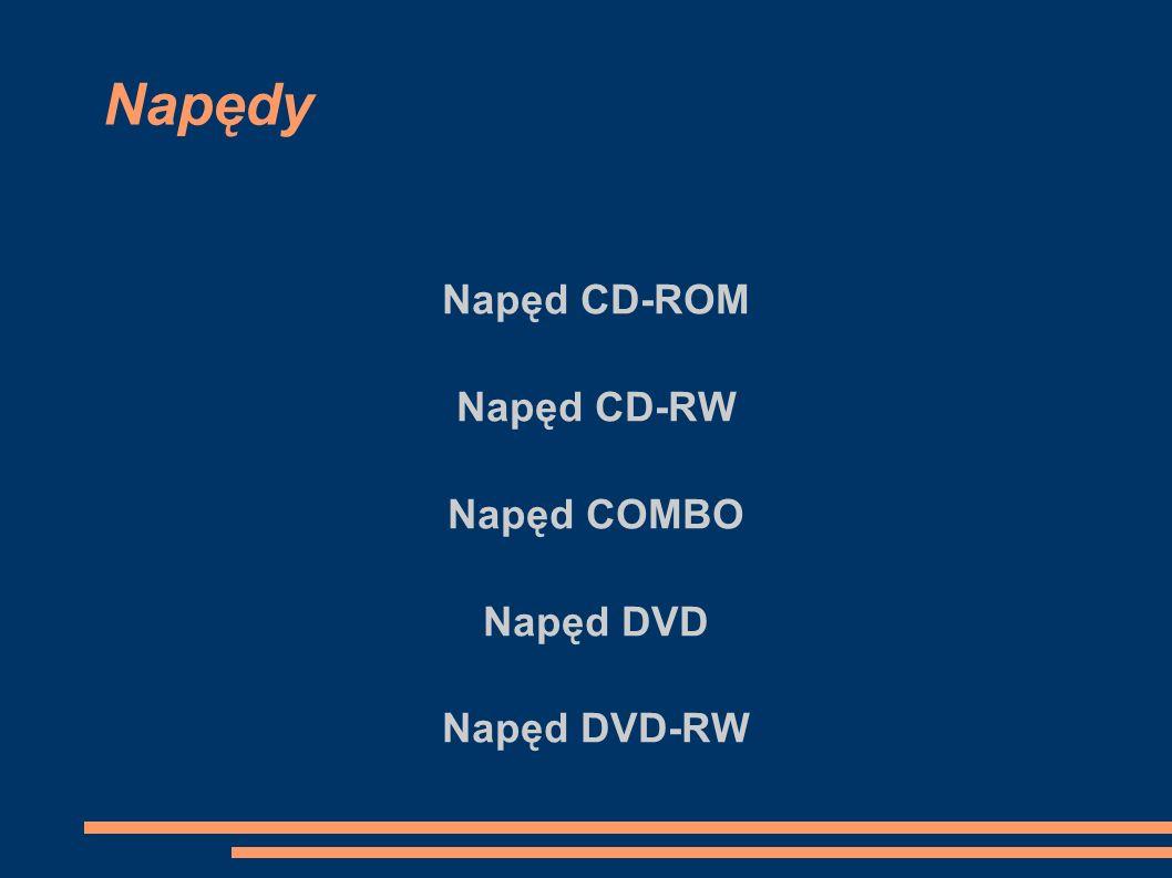 Napędy Napęd CD-ROM Napęd CD-RW Napęd COMBO Napęd DVD Napęd DVD-RW