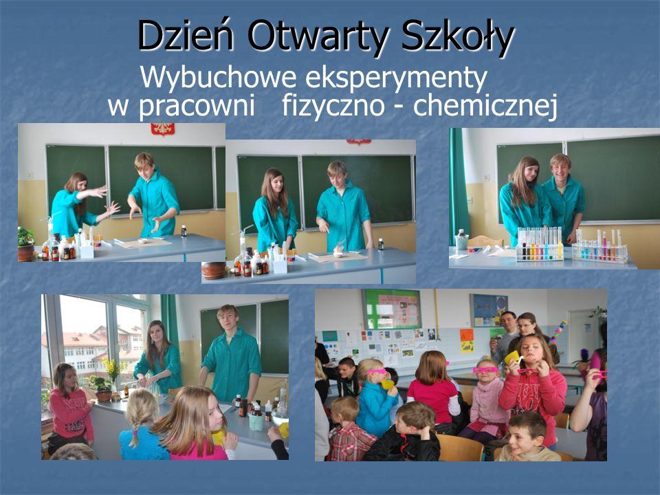Dzień Otwarty Szkoły Wybuchowe eksperymenty w pracowni fizyczno - chemicznej