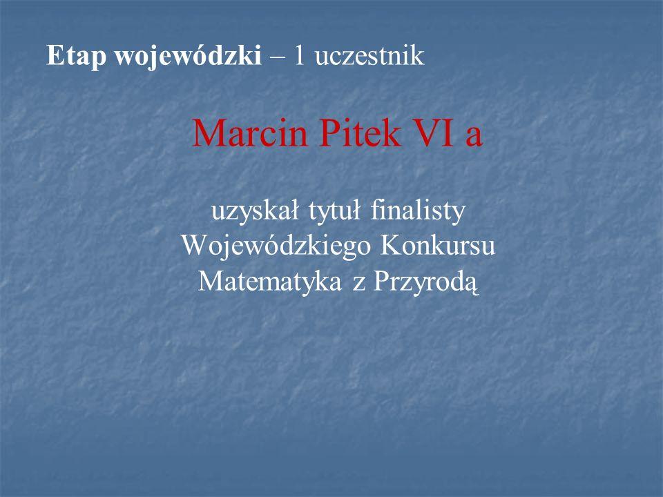 MIĘDZYNARODOWY KONKURS MATEMATYCZNY KANGUR 2010 W konkursie wzięło udział 78 uczniów klas IV – VI oraz I – III gimnazjum.
