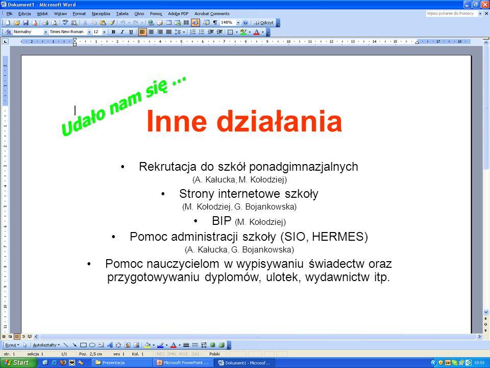 Podręcznik do informatyki dostosowany do nowej podstawy programowej – autor M. Kołodziej Scenariusze do filmów edukacyjnych z informatyki – A. Kałucka