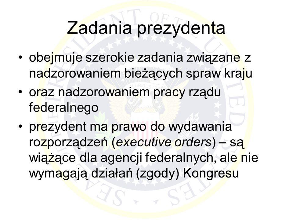 Zadania prezydenta obejmuje szerokie zadania związane z nadzorowaniem bieżących spraw kraju oraz nadzorowaniem pracy rządu federalnego prezydent ma pr