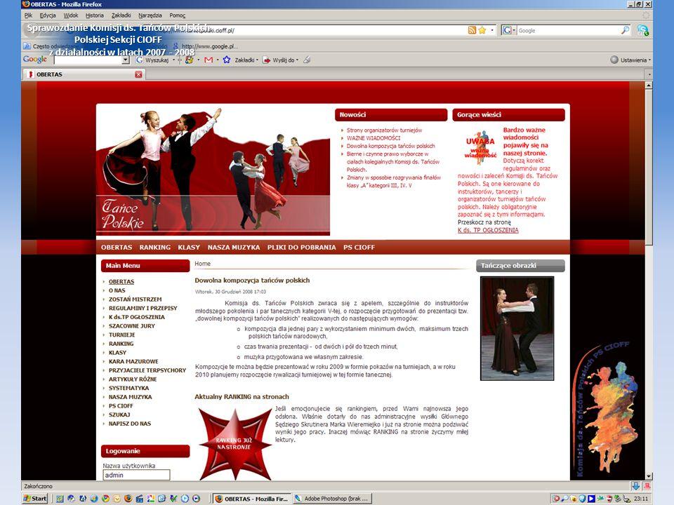 Sprawozdanie Komisji ds. Tańców Polskich Polskiej Sekcji CIOFF z działalności w latach 2007 - 2008