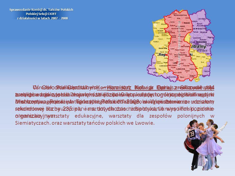 Sprawozdanie Komisji ds. Tańców Polskich Polskiej Sekcji CIOFF z działalności w latach 2007 - 2008 W Ośrodku Centralnym – Komisarz Kol. dr Dariusz Skr