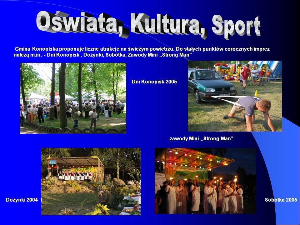 Na terenie gminy Konopiska, licznie działają prywatni inwestorzy którzy prowadzą działalność gospodarczą i społeczną.