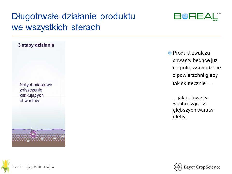 * Boreal edycja 2008 Slajd 5 Zsynchronizowana kontrola chwastów